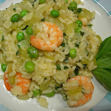 Garlic Prawn Risotto