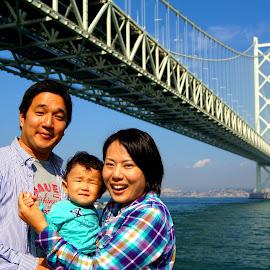 A heartwarming & lovely family @ Akashi-kaikyō Bridge Japan by Cristiano Michael - People Family