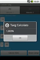 Screenshot of Calcolo Taeg