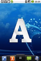 Screenshot of Diamond letter A sticker