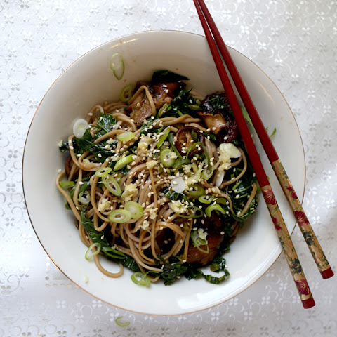 Soba Noodles with Wasabi and Shiitake Mushrooms