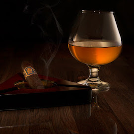 Undercrown by Mark Davis - Food & Drink Alcohol & Drinks ( bourbon, cigar, whiskey, smoking, smoke )