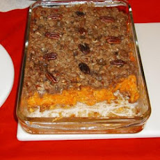 Bourbon Yams With Pecan Topping