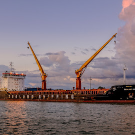 Zealand Beatrix by Jack Brittain - Transportation Boats ( lake ontario, canada, ship, sunset, harbour, ontario, oshawa )