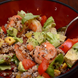 Shrimp Quinoa Salad (for 2, with leftovers)