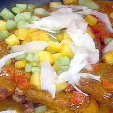 Poulet a la Creole (Curried Chicken with Pineapple, Cucumber, and Coconut)