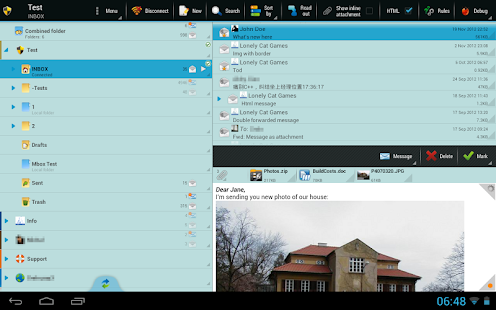 ProfiMail Go - email client- screenshot thumbnail