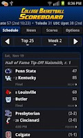 Screenshot of College Basketball Scoreboard+