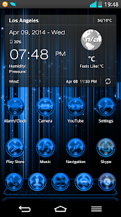 Next Launcher 3D RingsB Theme - screenshot