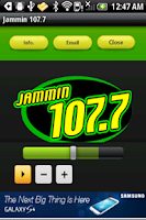 Screenshot of Jammin 107.7