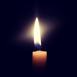 Light in the dark by Gonzalas Wong - Instagram & Mobile Android ( candle, dark, light in the dark, light )