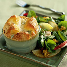 Cabrales Cheese Souffles with Endive and Asian Pear Salad