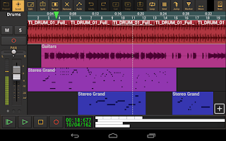 Screenshot of Audio Evolution Mobile DAW