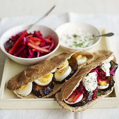 Egg and Veggie Pittas