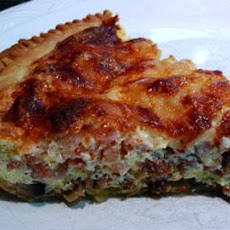 Cheese, Shrimp & Mushroom Quiche