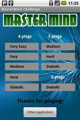 Master Mind Challenge