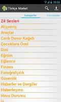 Screenshot of Türkçe Market & Zil Sesleri