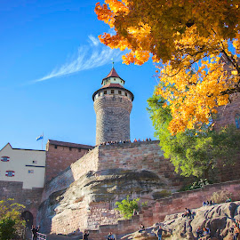Imperial Castle by Jay Snell - Buildings & Architecture Public & Historical ( building, blue sky, autumn, historic site, nuremberg, residential building, castles, architecture, people,  )