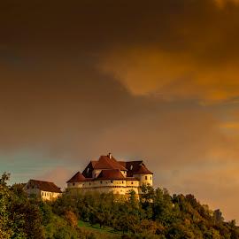 Veliki Tabor castle 3 by Hrvoje Kunović - Buildings & Architecture Public & Historical ( sunset, buildings, castle, tabor, veliki )