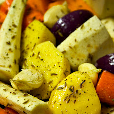 Carrots & Potatoes Roasted w/ Onion and Garlic