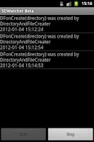 Screenshot of SDWatcher BETA