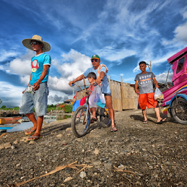 The Edge by Ferdinand Ludo - People Street & Candids ( boat to another island, towards the pier, group of people, pier end, mactan island, cordoba )