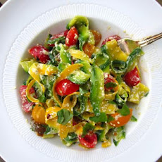 Summer Squash 'pasta' With Ricotta