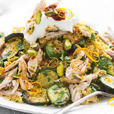Courgette, Chicken And Pistachio Couscous