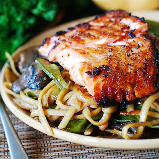 Salmon Mushroom Noodles Recipes