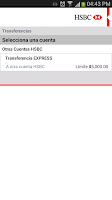 Screenshot of HSBC Móvil- México