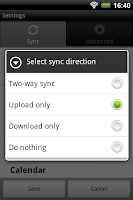 Screenshot of Memotoo sync