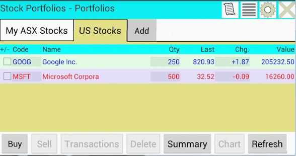 App Stock Portfolios -Trial APK for Windows Phone ...