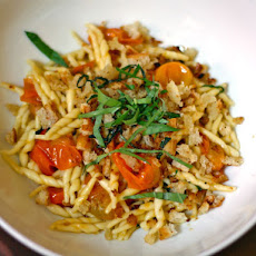 Summer Sun Gold Tomato Pasta with Bread Crumbs