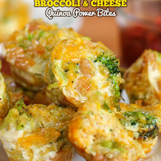 Broccoli and Cheese Quinoa Power Bites