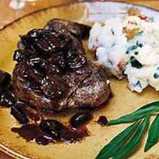 Filet Mignon with Truffled Mushroom Ragoût