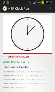 NTP Clock App - screenshot