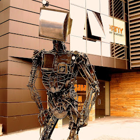 I, robot by Sergey Sokolov - Buildings & Architecture Statues & Monuments ( statue plovdiv bulgaria street art )