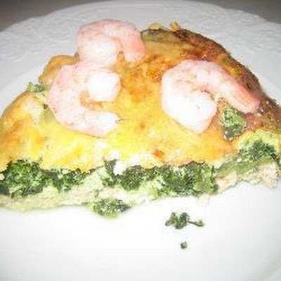 Spinach, Crab And Prawn Quiche