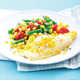 Orange-Poached Catfish with Confetti Salad