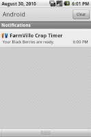 Screenshot of FarmVille Crop Timer Free