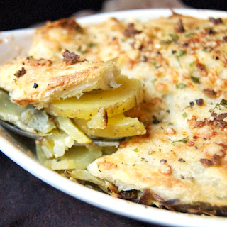 potato celery root gratin with leeks potato and celery root gratin ...