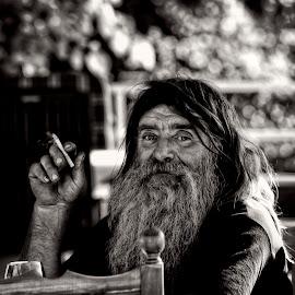 old biker by Dan Dumitrescu - People Portraits of Men ( body, biker, street, people )