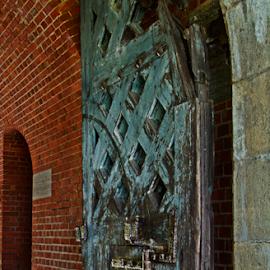 Door to Fort Pulaski by Jill Beim - Buildings & Architecture Architectural Detail ( buildings, door, architectural detail, historical, fort, architecture,  )
