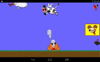 Screenshot of Shaking Head, Flying Cow