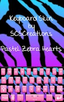 Screenshot of KB SKIN - Pastel Zebra Heart