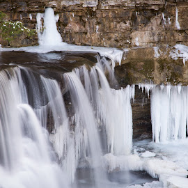 Great Falls by Gannon McGhee - Landscapes Waterscapes ( winter, great, ohio, cuyahoga, snow, falls, valley )