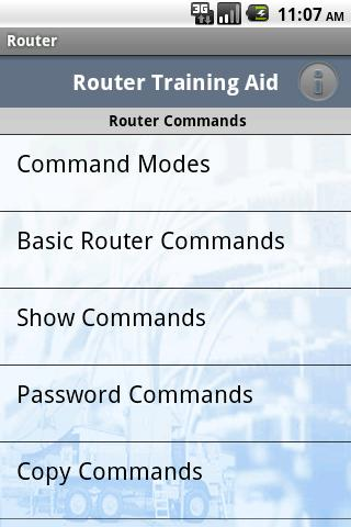 router-commands-training-aid for android screenshot