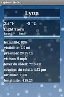 Screenshot of Weather Sensor Free