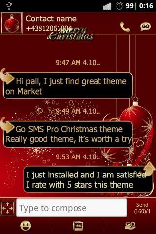 Christmas theme GO SMS Pro