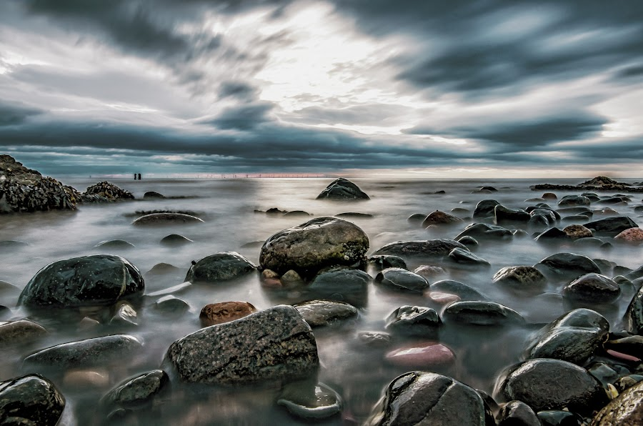 Wet Rocks by Graham Kidd - Landscapes Waterscapes ( clouds, water, movement, long exposure, rocks )